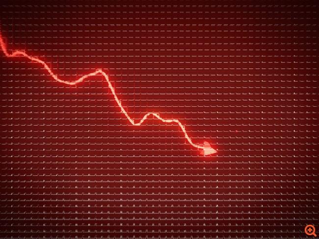 """""""Επίθεση"""" πωλητών ρίχνει κάτω από τις 840 μονάδες το Χρηματιστήριο"""